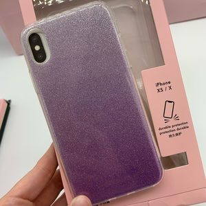 Kate Spade ♠️ Purple Sparkle iPhone X/XS Case NEW!